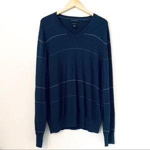 Banana Republic V-Neck Cashmere Blend Sweater XXL